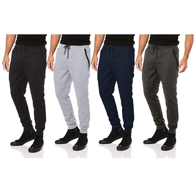 Men's French Terry Jogger Pants With Zipper Pockets