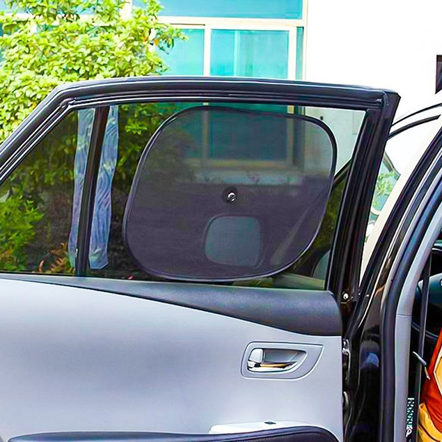 Zone Tech 6Pc. Car Front Rear Back Side Window Sun Shade Visor Covers