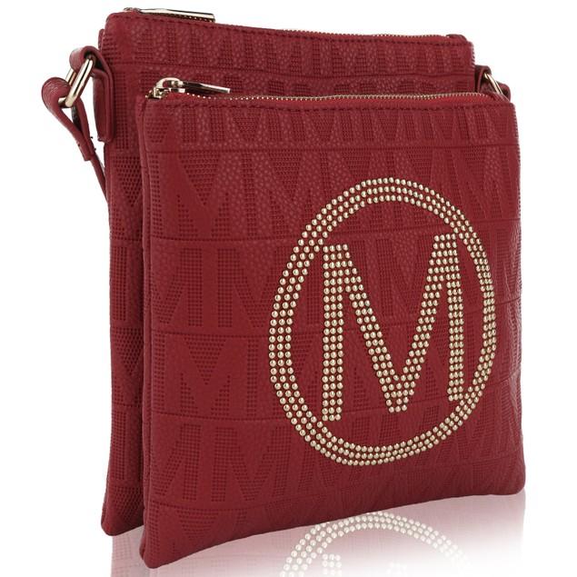 MKF Collection Genoa M Signature Crossbody Bag by Mia K Farrow