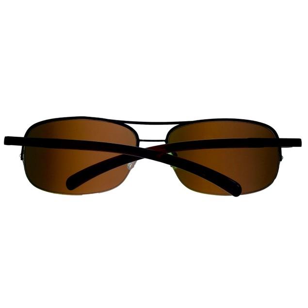 Timberland Sunglass Mens Brown Rimless Metal Aviator, Brown Len TB7113 12G