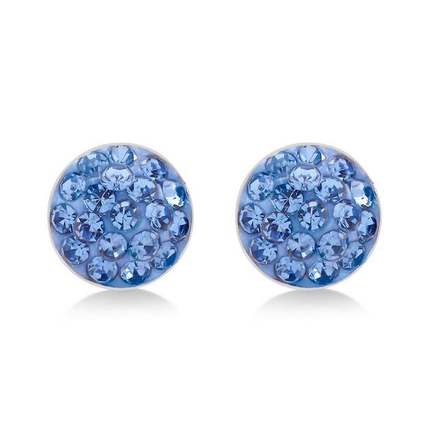 Crystal Round Earrings