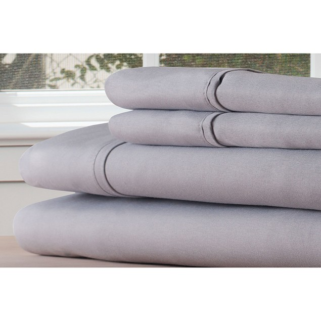 Lavish Home Microfiber 4 Piece Sheet Set