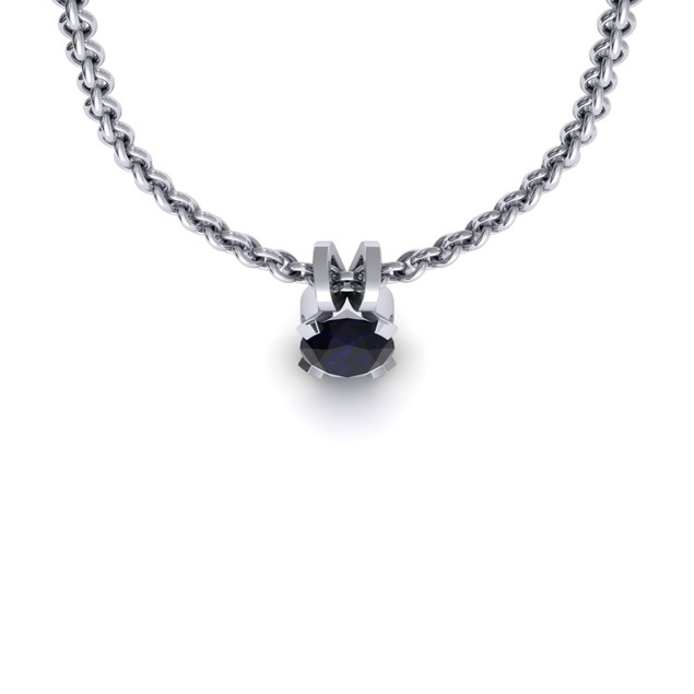 1.80cttw Oval-Cut Sapphire Necklace & Earring Set In Sterling Silver