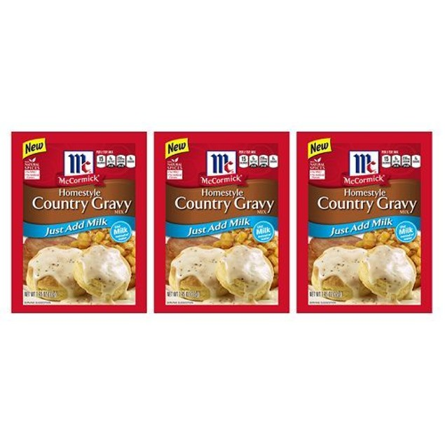 McCormick Homestyle Country Gravy Mix 3 Packet Pack