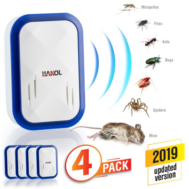 4-Pack Ultrasonic Pest Repeller Plug-in