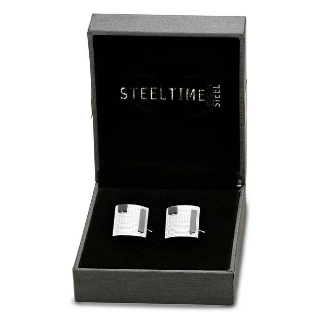 Box Set Stainless Steel Minimalistic Art Cufflinks