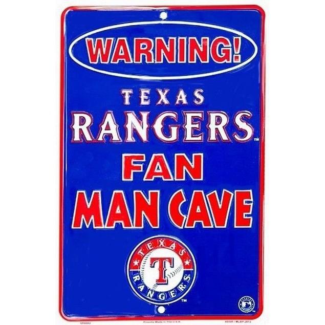 Texas Rangers MLB Fan Man Cave Parking Sign