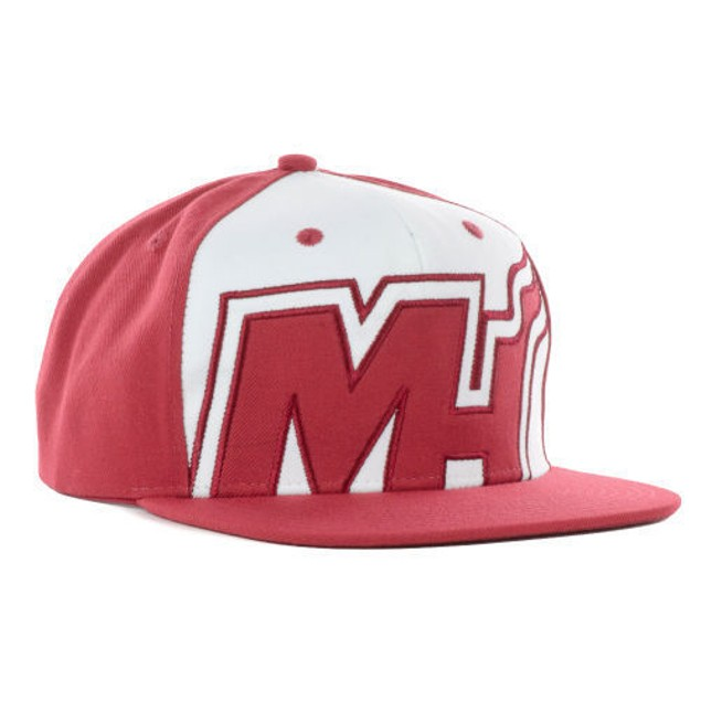 """Miami Heat NBA Adidas """"Pride Jersey"""" Flat Bill Snapback Hat"""
