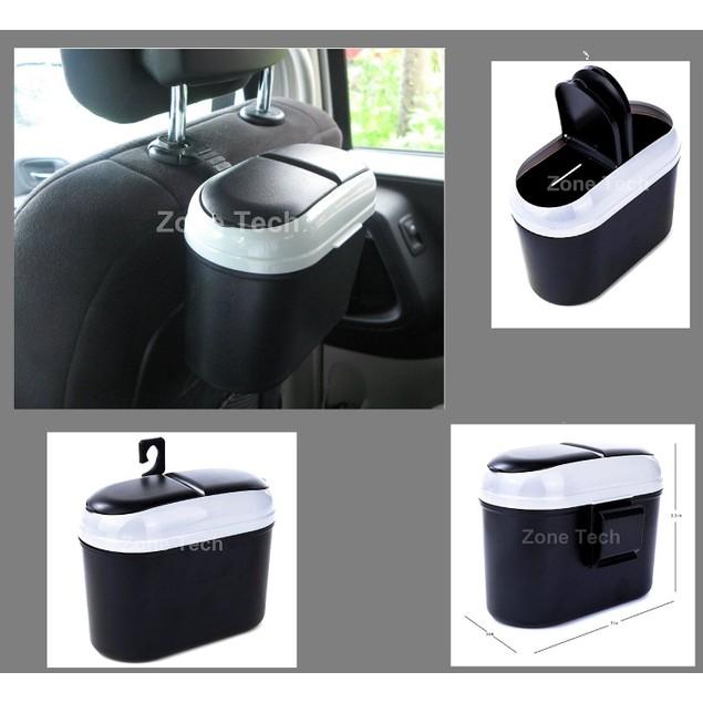 Zone Tech Car Small Trash Garbage Can Bin Litter Storage Organizer Bag Set
