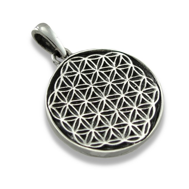 Sterling Silver Flower Of Life Pendant/Charm Pendants