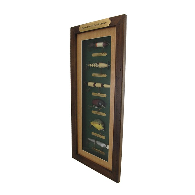 Fishing Lures Of The 20Th Century Wood Shadow Box Shadow Boxes