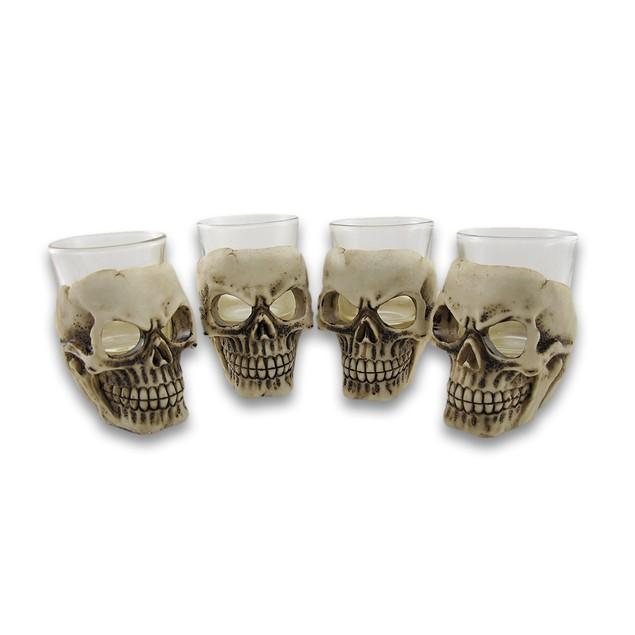 Sinister Skull Shot Glass Set Of 4 Shot Glasses