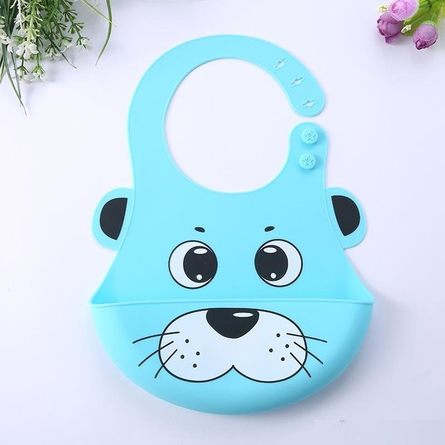 Silicone Hygienic Baby Bib with Cute Characters