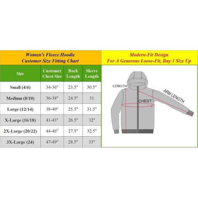 Women's Pullover Fleece Sweater Hoodie (Sizes, S-3XL)