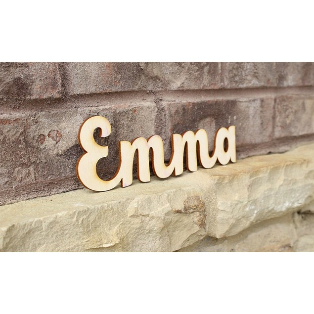 Laser-Cut Personalized Wood Name Signs - BelleChic