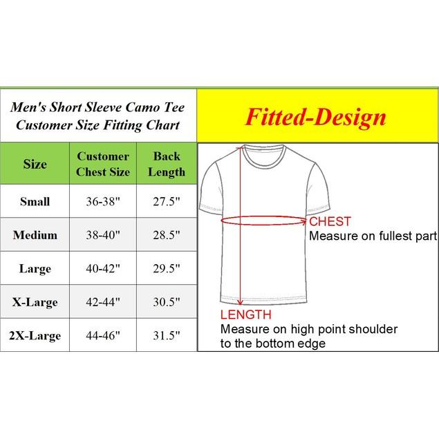Men's Short Sleeve Crew Neck Camo Printed Tee (S-2XL)