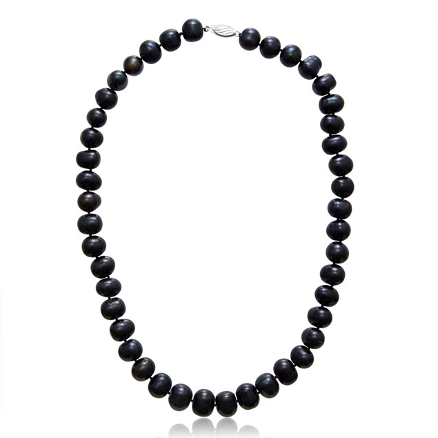 11mm Black Freshwater Cultured Pearl Necklace