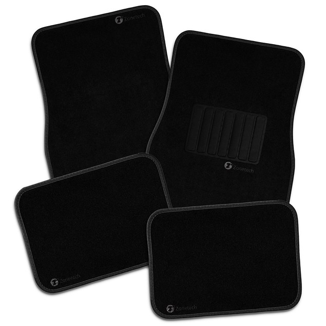 4-Piece Zone Tech All Weather Heavy Duty Vehicle Floor Mats