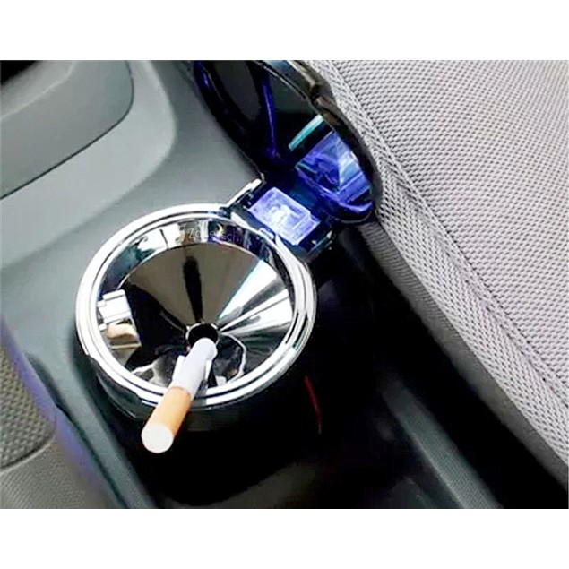 Zone Tech Car Led Smokeless Ashtray Travel Portable Cigarette Smoke Remover