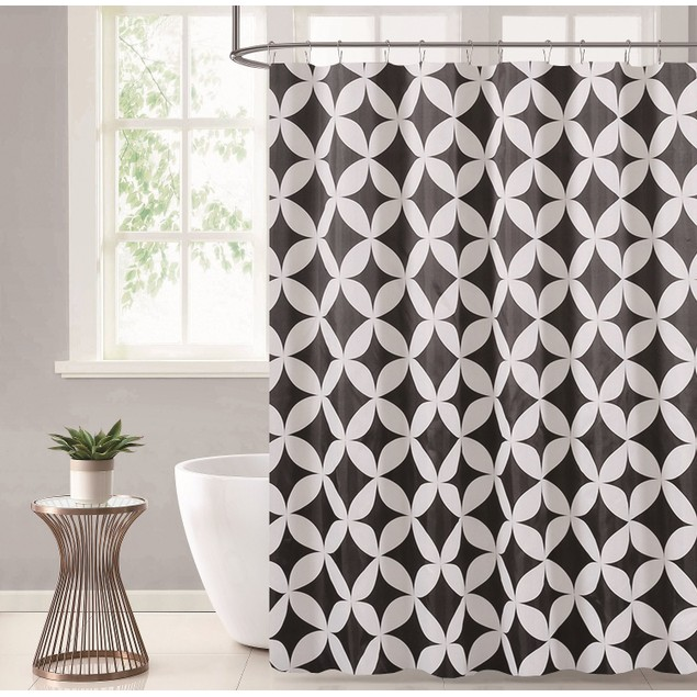 """Stylish Home Durable & Waterproof 70"""" x 72"""" Printed Shower Curtains"""
