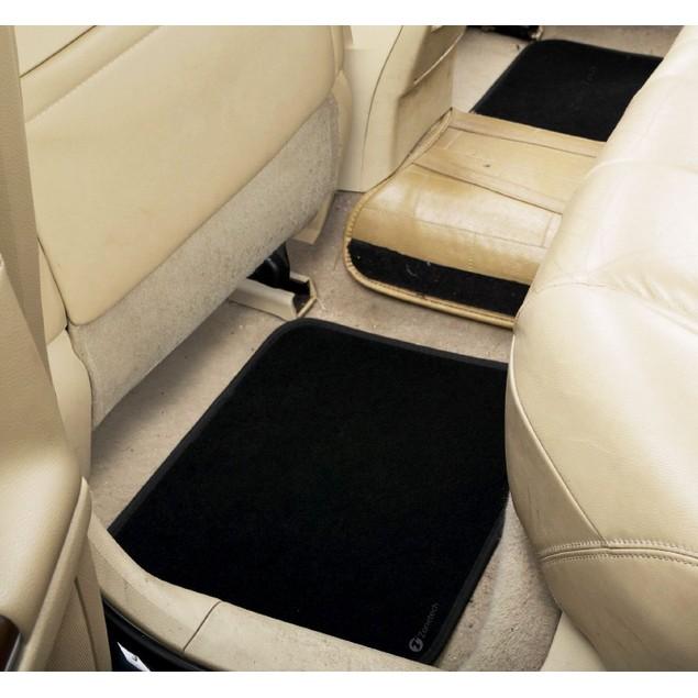 Zone Tech Black  Carpet All Weather Heavy Duty Vehicle 4 Piece Floor Mats