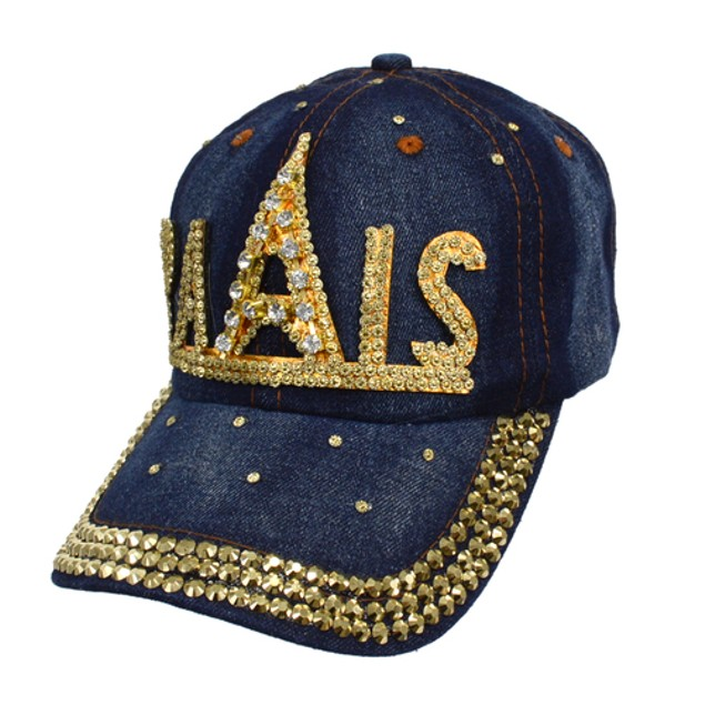 Women's Bling Cotton Denim Baseball Caps