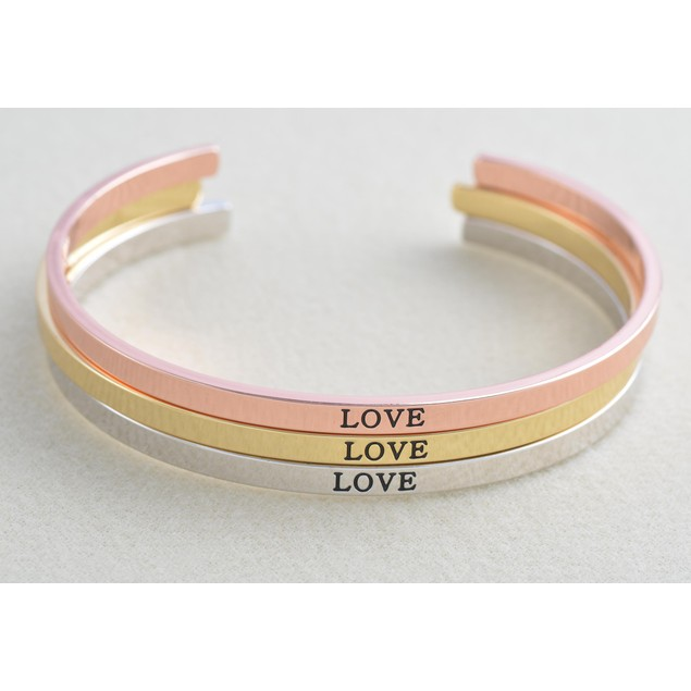 Inspiration Cuff Bracelets - Choose Phrase & Color!