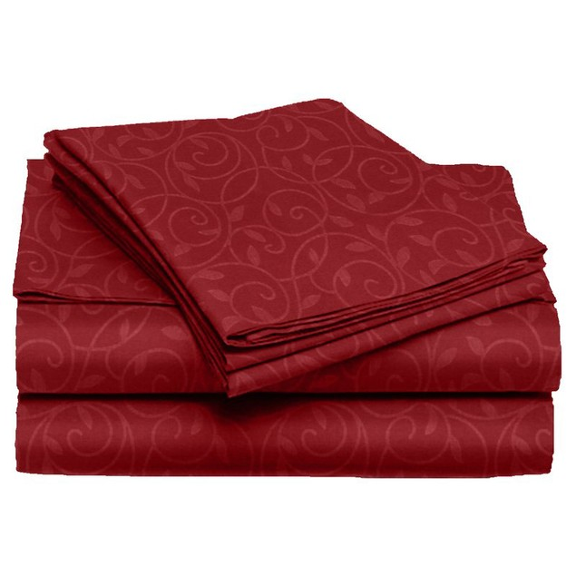 Vine-Embossed Sheet & Pillowcase Set (4-Piece or 6-Piece)
