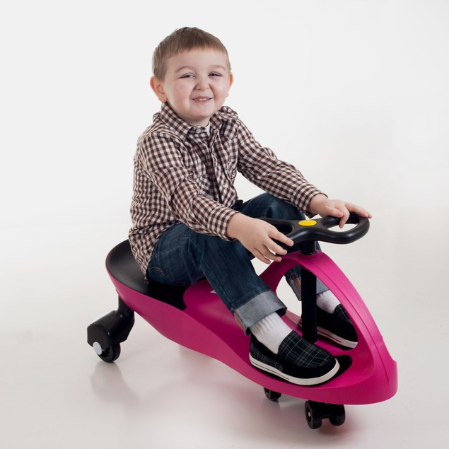Lil' Rider Wiggle Car Ride On - Hot Pink