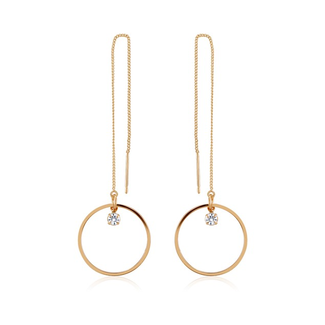 18kt Yellow Gold Plated Cubic zirconia Drop Earrings