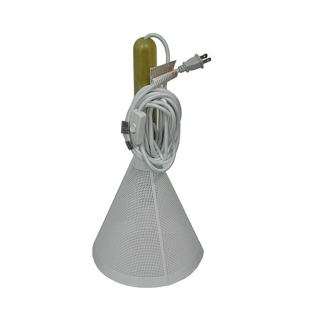White Metal Mesh Wood Stem Signal Pendant Lamp Pendant Lamps