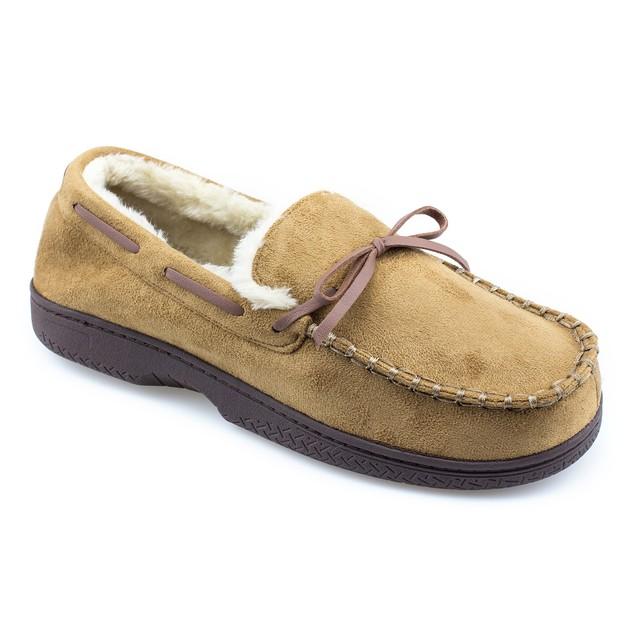 Mens Memory Foam Durable Comfortable Slip On Moccasin Slippers