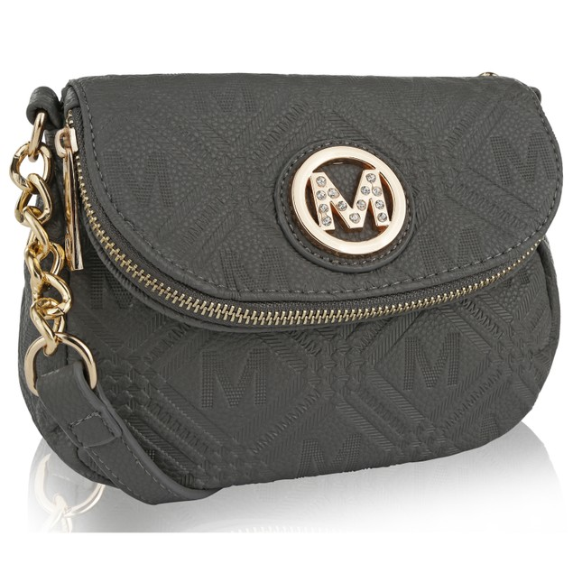 MKF Collection Madilyn Milan Embossed M Signature Cross Body Bag