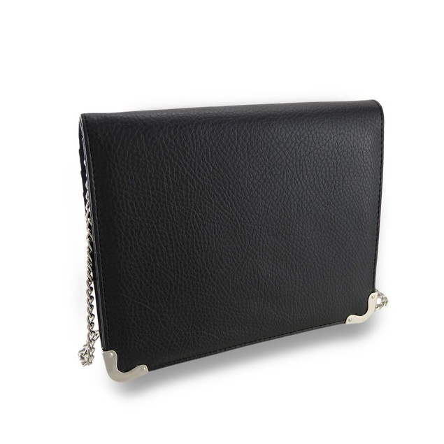Textured Folding Evening Clutch Wallet W/Removable Womens Wallets