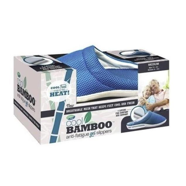 Men's Cool Bamboo Anti-Fatigue Gel Slippers