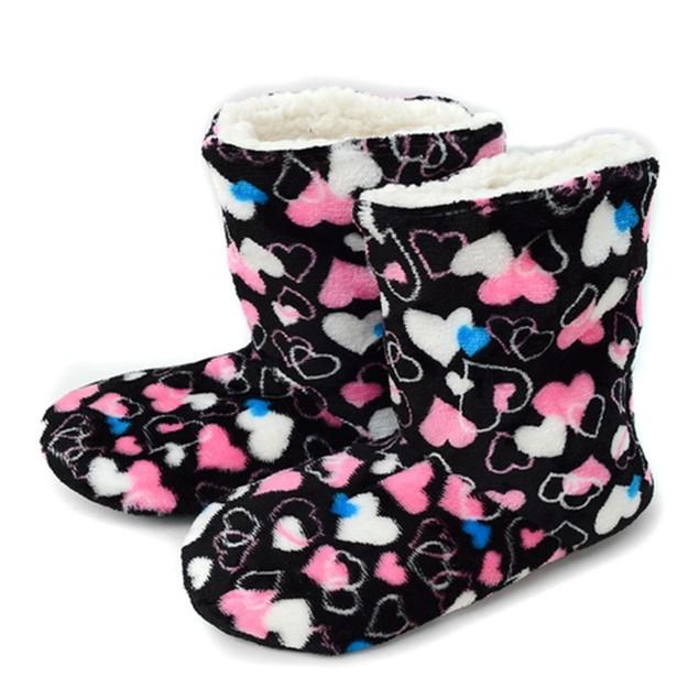Nollia Women's Pattern Warm & Cozy Indoor Non-Slip Grip Slipper Booties