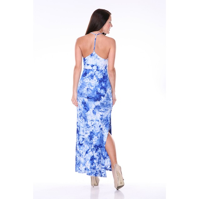 Women's T-Strap Tie Dye Maxi Dress