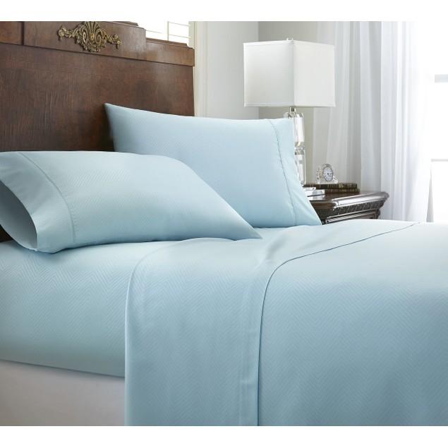 Merit Linens Ultra Soft 4 Piece Chevron Bed Sheet Set