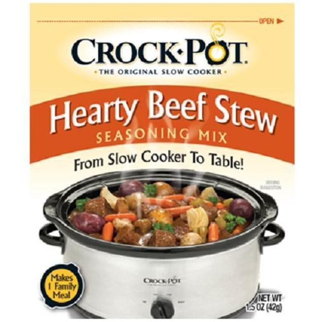 Crock Pot Hearty Beef Stew Seasoning Mix 3 Packet Pack