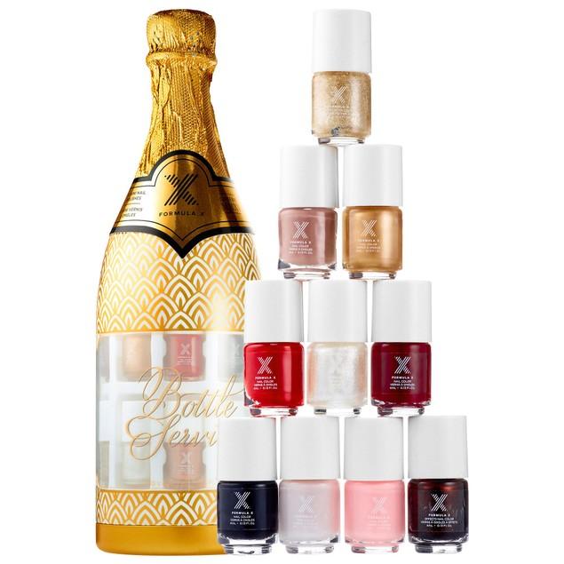 Sephora Formula X Bottle Service 10 Mini Nail Polish Set/Lot 0.13 oz. Each