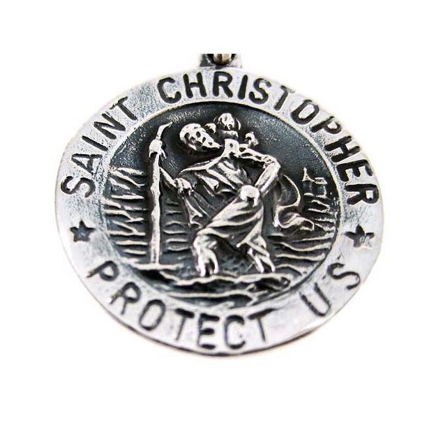 Sterling Silver St. Christopher Medal Saint Womens Pendants