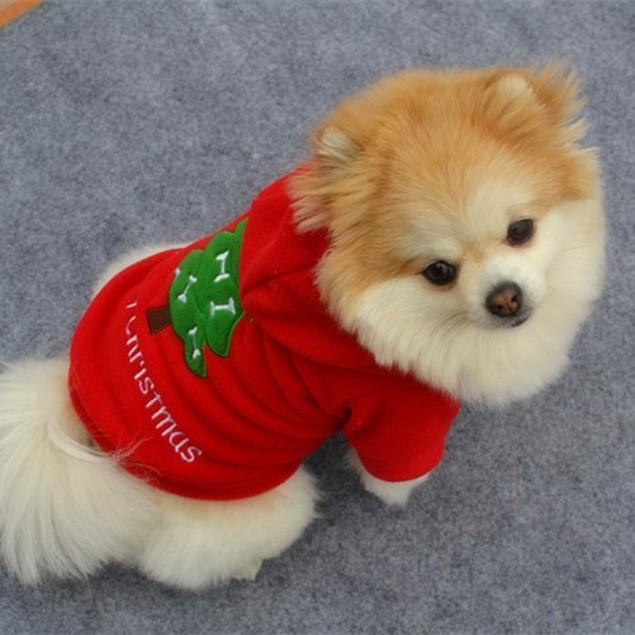 Christmas Pet Dog Clothes Santa Claus Costume Coat Apparel