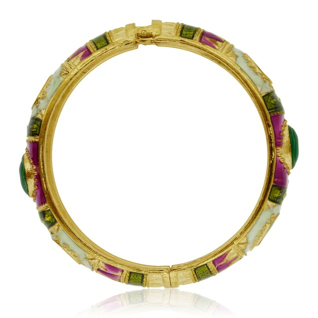 Gold Plated Indian Inspired Enamel Bracelet