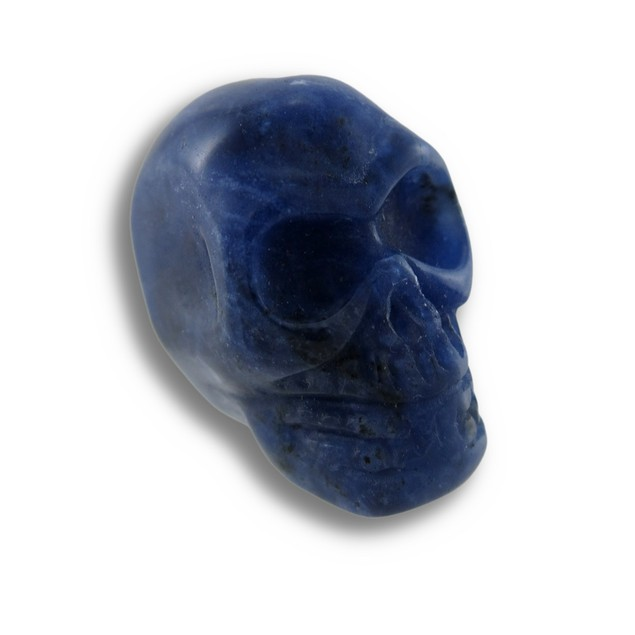 Beautiful Carved Sodalite Gemstone Skull 25Mm 1 Loose Gemstones