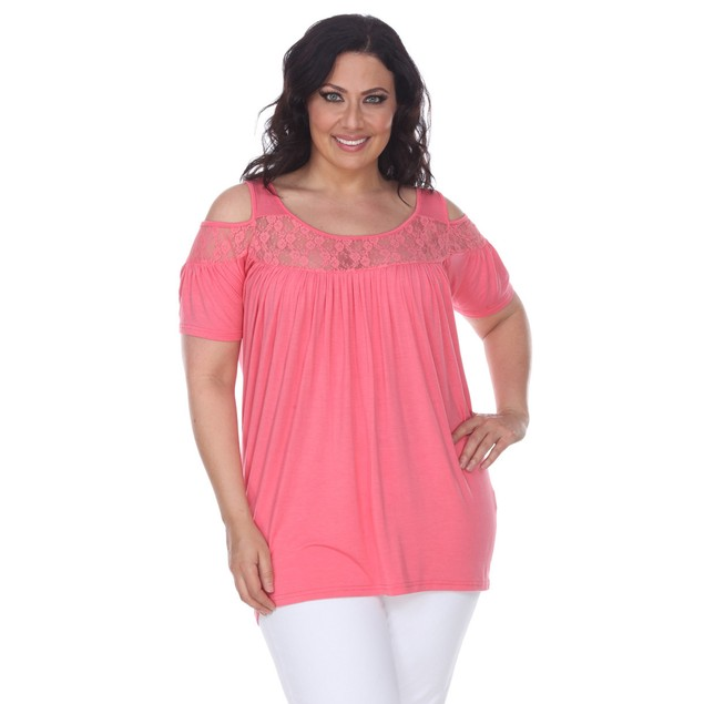 Women's Plus Size Bexley Cold Shoulder Tunic Top - 9 Colors