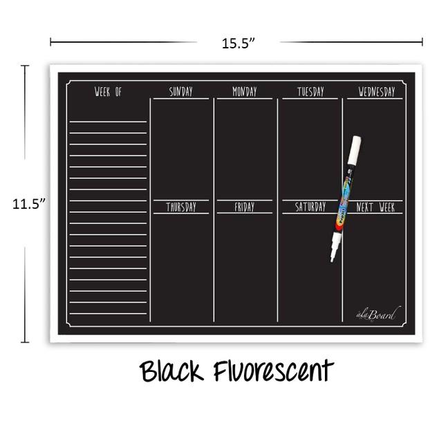 Weekly Calendar Magnet (15.5 x 11.5) - 4 Colors