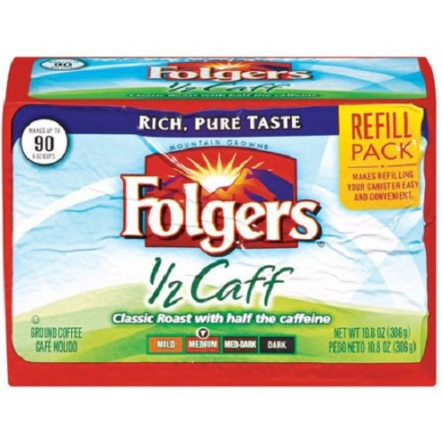 Folgers 1/2 Caff Ground Coffee Refill Pack