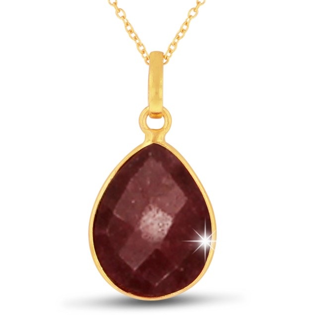 10ct Ruby Pear Shape Necklace