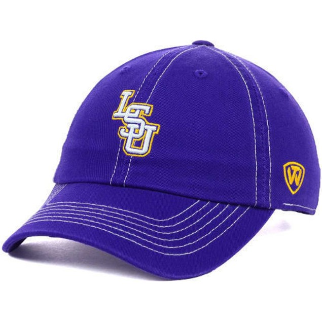 """LSU Tigers NCAA TOW """"Stitches"""" Adjustable Hat"""