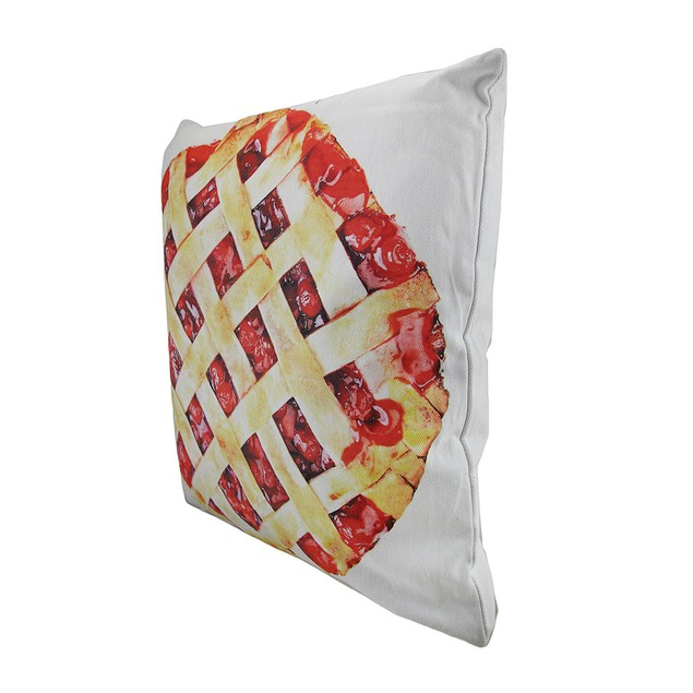 18 In. Cherries And Cherry Pie Decorative Throw Throw Pillows